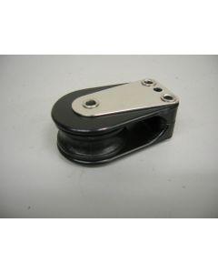 Keerblok, Dekblok, Schildpadblok, 1-schijfs, naaldlagers, 12 mm