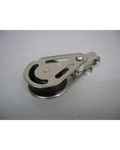 RVS Blok, 1-schijfs, 10 - 12 mm