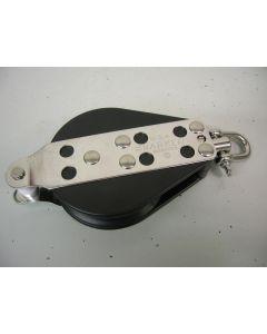 Harken Blok, 1-schijfs, hondsvot, draaiwartel, kogellagers, 12 - 14 mm