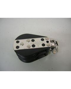 Harken Blok, 2-schijfs, kogellagers, 12 mm