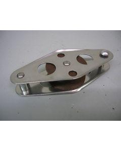 RVS Blok, 1-schijfs, hondsvot, 12 - 13 mm