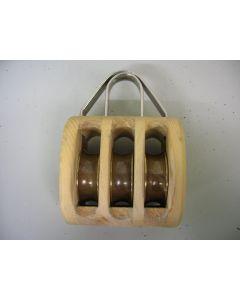 Blok, 3-schijfs,16 - 18 mm