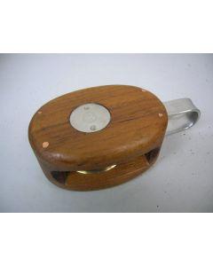 Blok, 1-schijfs, 16 -18 mm, teak