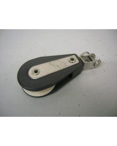 Blok, 1-schijfs, draaiwartel/gaffelsluiting, 10 mm