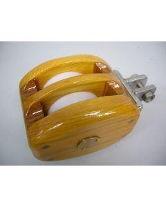 Blok, 2-schijfs, dubbelschijfs, staalkabelblok, 6 - 8 mm