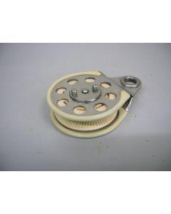 Ratelblok, 1-schijfs, tot 12 mm, o.a. voor Optimist