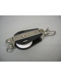 HYE Offshore blok, 1-schijfs, hondsvot, draaiwartel, 13 mm