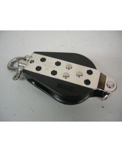 Harken Blok, 1-schijfs, hondsvot, draaiwartel, kogellagers, 14 mm