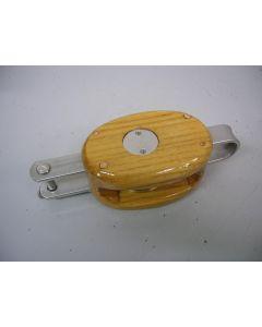 Blok, 1-schijfs, hondsvot, 12 - 14 mm, 2 stuks