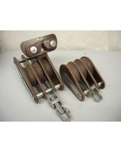 Grootschoot blokken set, 3 + 3-schijfs, 14 - 16 mm