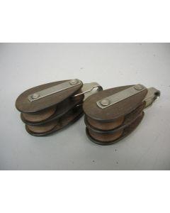Klassieke MAIN tufnol blokken, dubbelschijfs, 10 mm