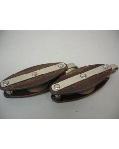Klassieke MAIN tufnol blokken, enkelschijfs, hondsvot, 12 - 14 mm
