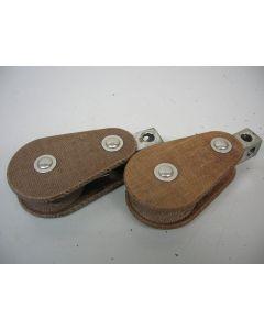 Klassieke GIBB tufnol blokken, enkelschijfs, 12 - 13 mm