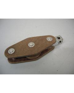 Klassiek GIBB tufnol blok, enkelschijfs, hondsvot, 12 - 13 mm