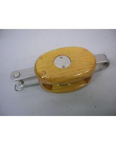 Blok, 1-schijfs, hondsvot, 12 - 14 mm