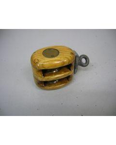 Blok, 2-schijfs, draaiwartel, 8 - 10 mm