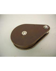 Blok, 1-schijfs, staaldraadblok, 8 mm