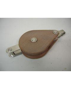 Blok, 1-schijfs, hondsvot, 14 - 16 mm, binnenbeslag, grote schijf