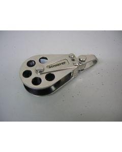 Schaefer, Blok, 1-schijfs, draaiwartel, 13 mm, High Load, voor staalkabel, Dyneema en lijn