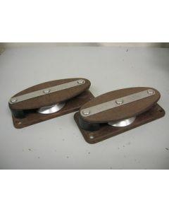Klassieke tufnol vioolkeerblokken, vioolschildpadblokken,set , 12 mm