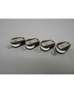 Micro keerblok, schildpadblok, kogellagers, max. 6 mm lijn