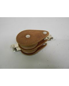 Klassiek GIBB tufnol blok, dubbelschijfs, hondsvot, 12 mm