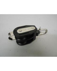 Easy Compact Blok, 2 - schijfsblok, hondsvot, kogellagers,  draaiwartel, 10 mm