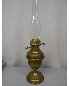 Tafellamp, olielamp, messing, dubbele brander