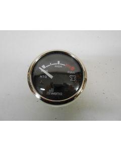 Vuilwatertankmeter, WEMA, Silver Gauge, 12 - 24 Volt