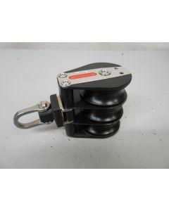 Ronstan blok, 3-schijfs, kogellagers, 10 mm