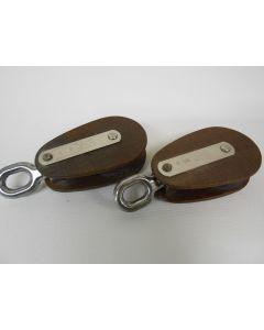 Klassiek MAIN tufnol blok, enkelschijfs, draaiwartel, 12 mm