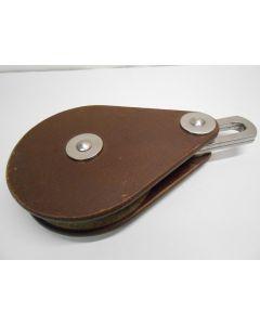 Blok, 1-schijfs, 10 - 12 mm, staaldraadblok, Dyneema, binnenbeslag, grote schijf, zwaar blok
