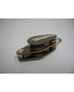 Blok, 2-schijfs, hondsvot, 10 - 12 mm